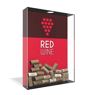 Quadro Porta Rolha de Vinho Acrílico - Red Wine