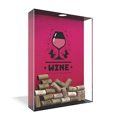 Quadro Porta Rolha de Vinho Acrílico - Wine Bubbles