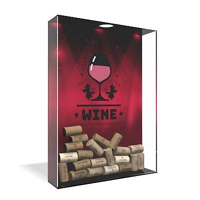 Quadro Porta Rolha de Vinho Acrílico - Wine Lights
