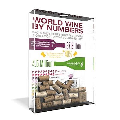 Quadro Porta Rolha de Vinho Acrílico - Wine Numbers
