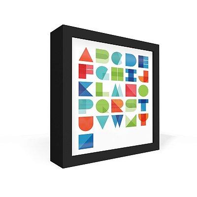 Quadro Caixa Frontal Alfabeto