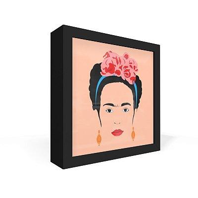 Quadro Caixa Frontal Frida Minimalista