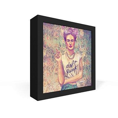Quadro Caixa Frontal Frida Punk
