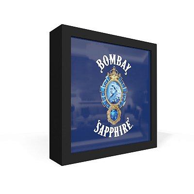 Quadro Caixa Frontal Gin Bombay