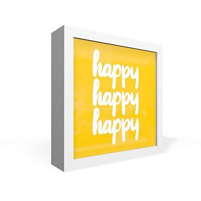 Quadro Caixa Frontal Happy 3X