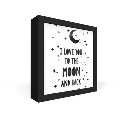 Quadro Caixa Frontal I Love You To The Moon