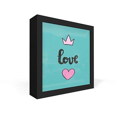Quadro Caixa Frontal Love