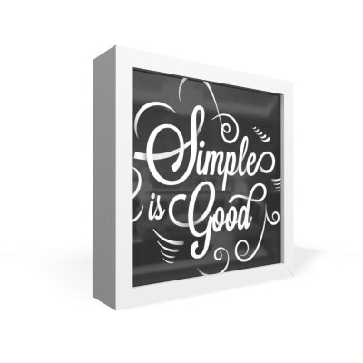 Quadro Caixa Frontal Simples Is Good