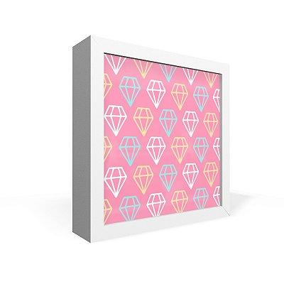 Quadro Caixa Frontal Textura Diamantes