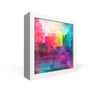 Quadro Caixa Frontal Textura Geometrica