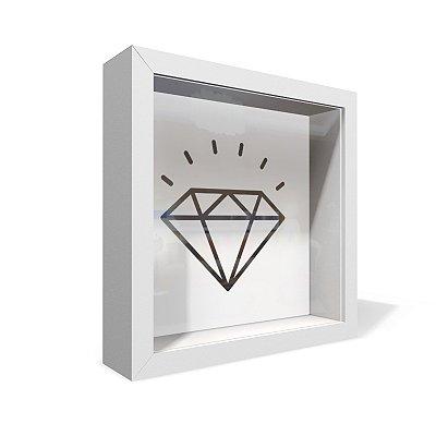 Quadro Caixa 20X20 Diamante