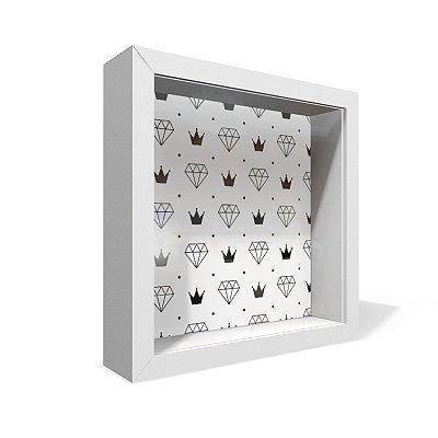 Quadro Caixa 20X20 Diamante Coroa