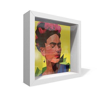 Quadro Caixa 20X20 Frida Geometrica