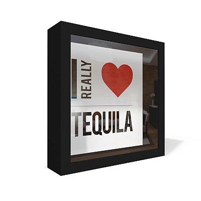 Quadro Caixa 20X20 I Love Tequila