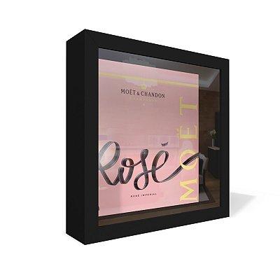 Quadro Caixa 20X20 Moet Rose