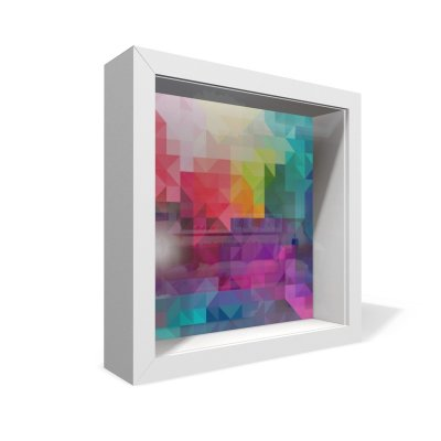 Quadro Caixa 20X20 Textura Geometrica