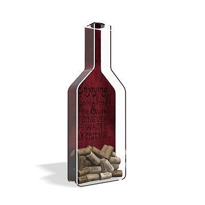 Porta Rolha de Vinho Garrafa Acrílico Frist Wine