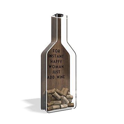 Porta Rolha de Vinho Garrafa Acrílico Life