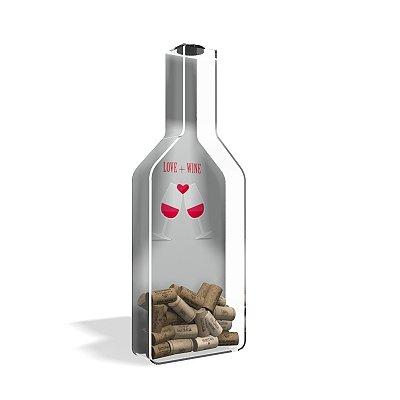 Porta Rolha de Vinho Garrafa Wine + Love
