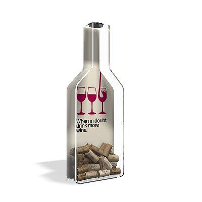 Porta Rolha de Vinho Garrafa More Wine