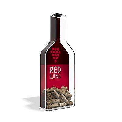 Porta Rolha de Vinho Garrafa Red Wine