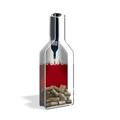 Porta Rolha de Vinho Garrafa Red Wine City