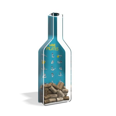 Porta Rolha de Vinho Garrafa Wine Pilates