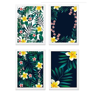 Quadros 20x30 (4 unidades) Flores