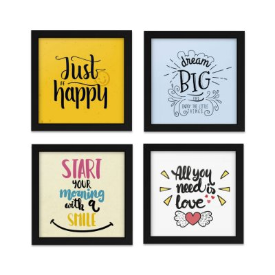 Quadros 20x20 (4 unidades) Good Things