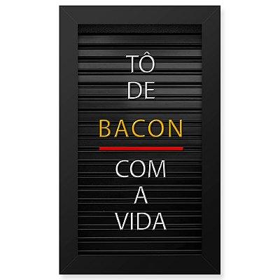 Placa de Letras Personalizável  Moldura Bacon
