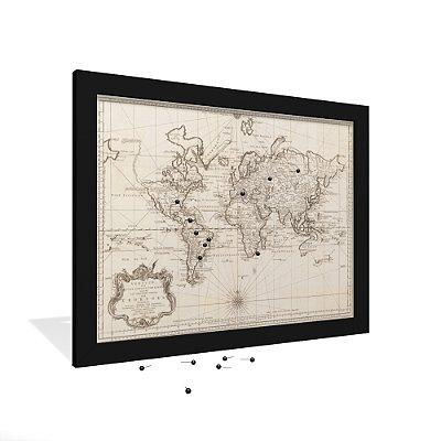 Quadro Mapa Antigo Linhas