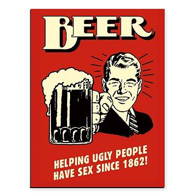 Placa Mdf Beer Retro