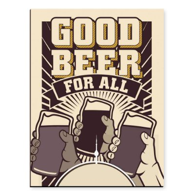 Placa Mdf Good Beer For All
