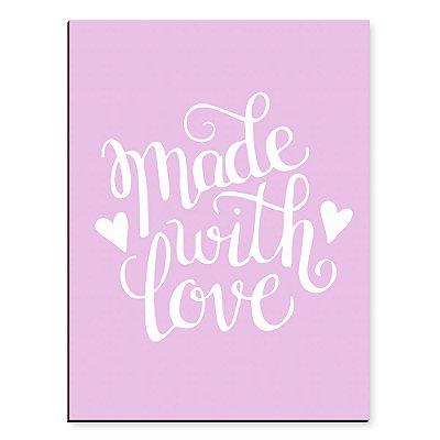 Placa Mdf Made With Love