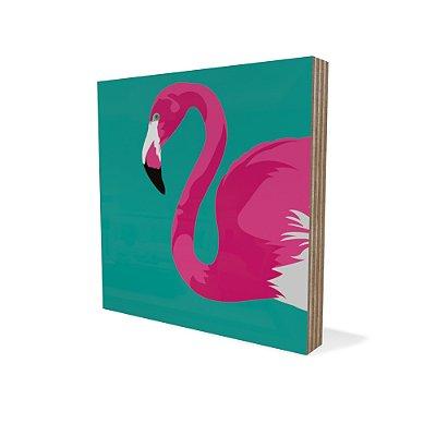 Placa Compensado Mini Flamingo
