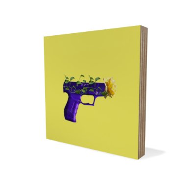 Placa Compensado Mini Revolver De Flor