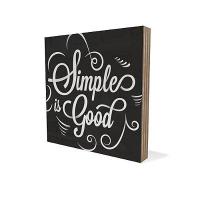 Placa Compensado Mini Simple Is Good