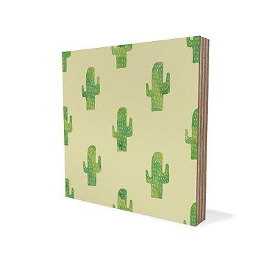 Placa Compensado Mini Textura Cactus Desenho