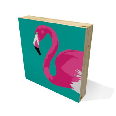 Quadro Pinus Quadrado Flamingo