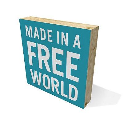 Quadro Pinus Quadrado Free World