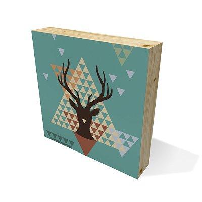 Quadro Pinus Quadrado Geometric Deer