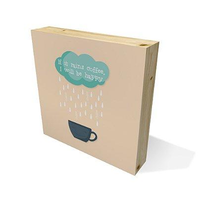 Quadro Pinus Quadrado Rains Coffee