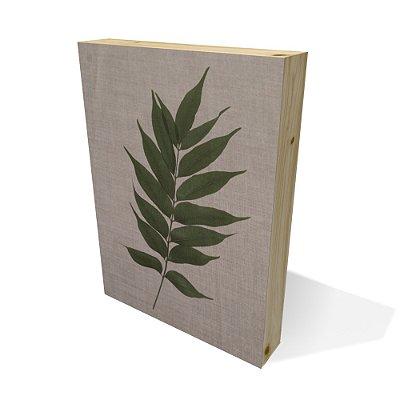 Quadro Pinus Retangular Folha