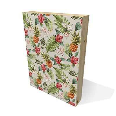Quadro Pinus Retangular Textura Floral