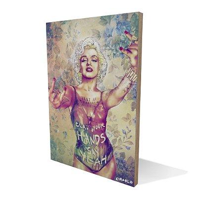 Placa Compensado Madonna Punk