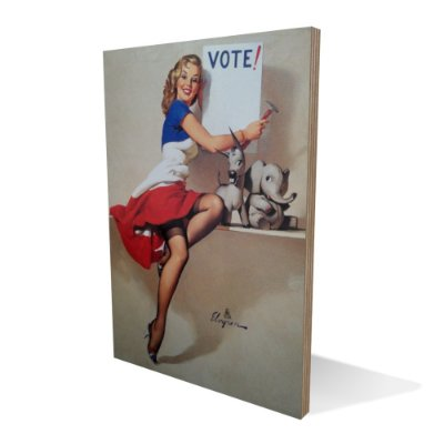 Placa Compensado Pinup Vote