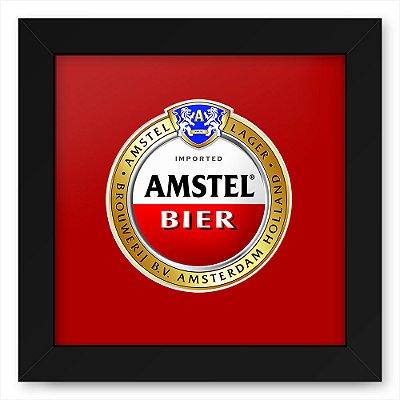 Quadro 20x20 Bebidas Cerveja Amstel