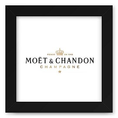 Quadro 20x20 Bebidas Champagne Moet