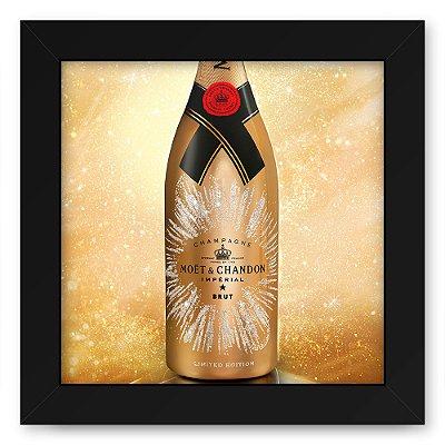 Quadro 20x20 Bebidas Champagne Moet Garrafa