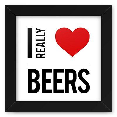 Quadro 20x20 Bebidas Love Beers